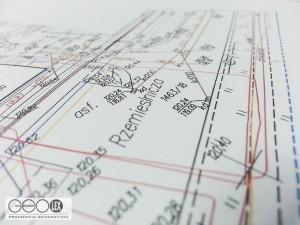 Fragment mapy do celów projektowych - miasto Białobrzegi. ul. Rzemieślnicza. Wydruk z mapy numerycznej.