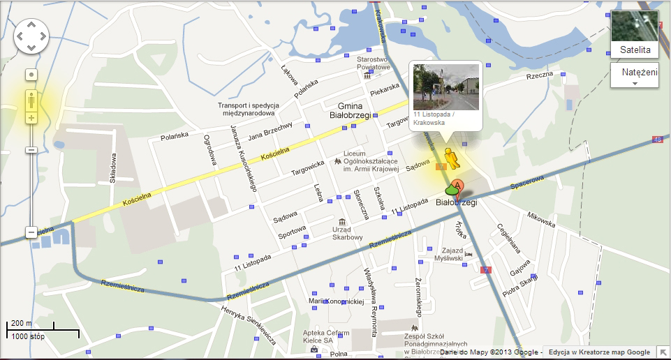 Miasto Białobrzegi i powiat białobrzeski w Street View!